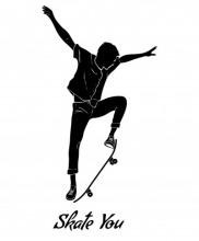 SkateYou Skater Sticker