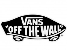 "Vans ""Off The Wall"" Black - White Sticker"