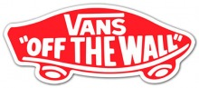 "Vans ""Off The Wall"" Red Sticker"