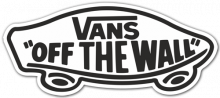 "Vans ""Off The Wall"" White Sticker"