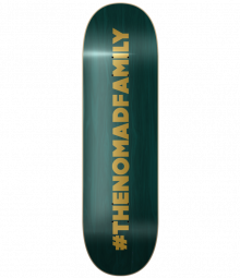 Nomad Skateboards Hashtag Green Deck