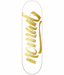 Nomad Skateboards Script White Deck